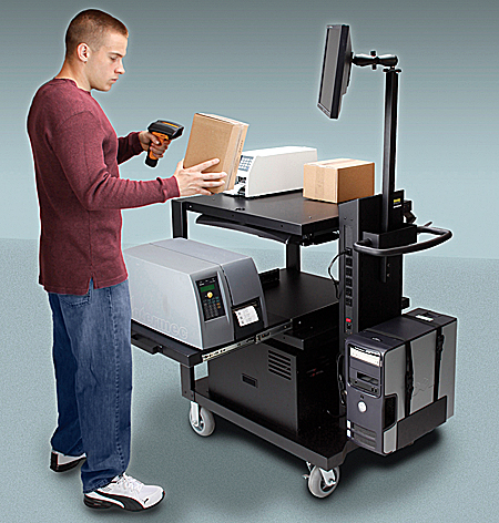 Heavy-Duty Mobile Work Station with Battery Pack