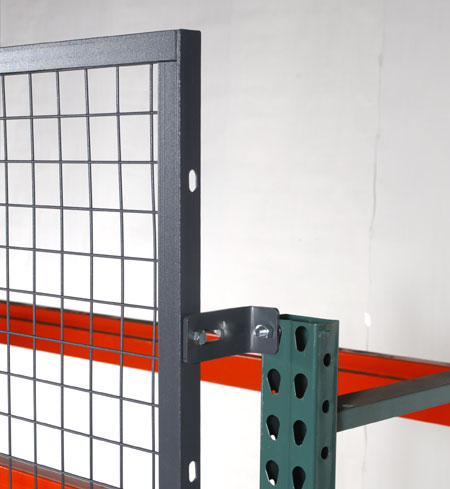 Panels can be set to extend above the top rack beam.