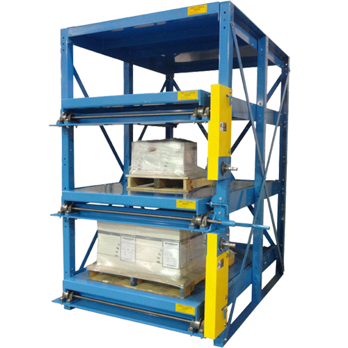 Crank-Out Glide-Out Three Shelf Configuration
