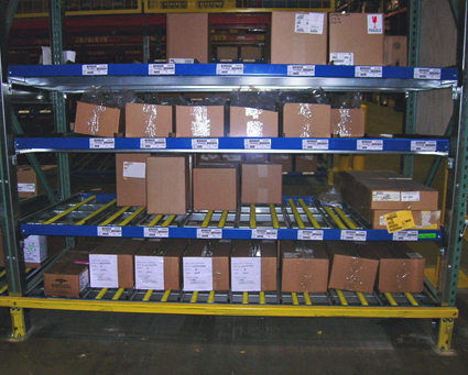 Load your cartons easily and quickly through the replenishment side of the rack.