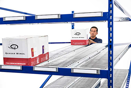 First-in first-out loading improves storage density and pick rates (roller bed used here)