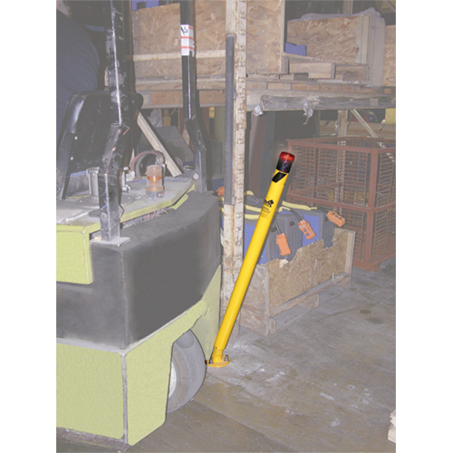 Spring Loaded Bollards flex 30 degrees then return to an upright position