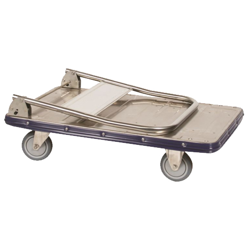 Stainless Steel Platform Truck w/ Handle Folded