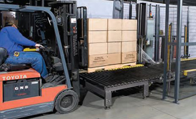 The Orion FA is loaded by forklift. It comes preconfigured with wire safety panels for class 2 safety rating