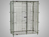 Chrome securiy cages store and secure items that are subject to pilferage.