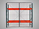 Enclose pallet racks with a wire cage or an enclosure to stop inventory theft