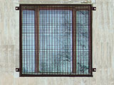Wire mesh security panels for windows