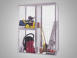 Wire mesh bulk storage lockers offer visibility and secure storage