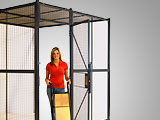 Wire security cages and partitions reduce pilferage, protect inventory, and increase safety