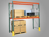 Pallet storage in selective, pushback, drive-in, pallet flow rack configurations