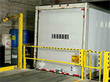 Dock safety gates prevent accidental falls at the loading dock