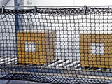 Safety netting for pallet racks & conveyors protect people from overhead falling items