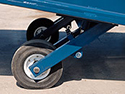 undercarriage wheels on steel yard ramp