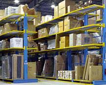 cantilever rack storing furniture