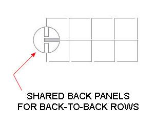 locker rows built back-to-back