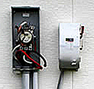 Meter box torn open