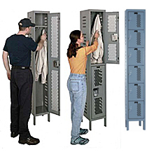 Bolt-Together Ventilated Athletic Lockers