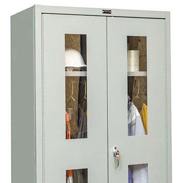 windowed cabinet doors