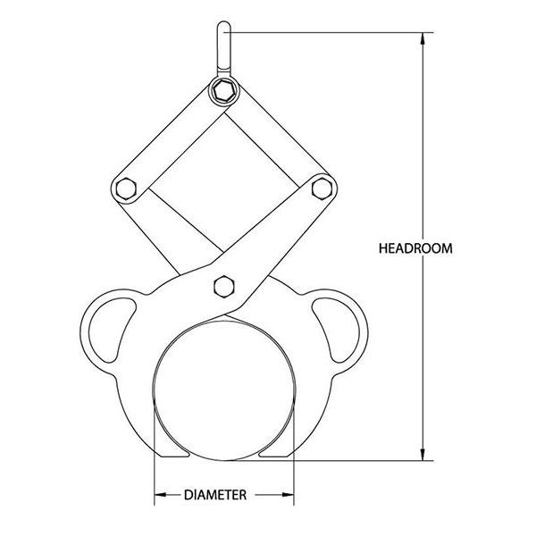 fixed diameter bar tong drawing