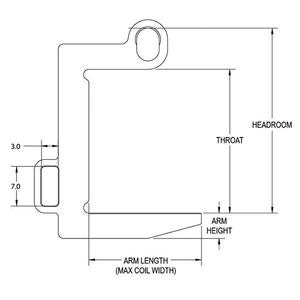 narrow coil lifter drawing