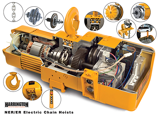 Cutaway of Electric Hoist