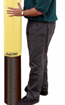 bollards with poly sleeves