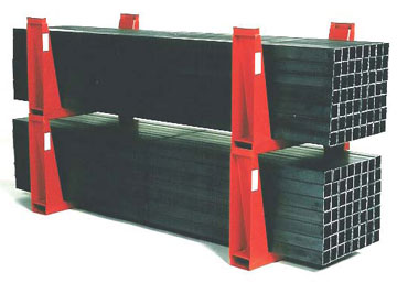 stacking racks with U-shape configurations