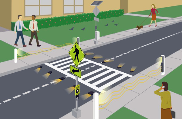 Automated Crosswalk Warning Light Systems Cisco Eagle