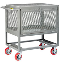 raised platform with drop gate and lid