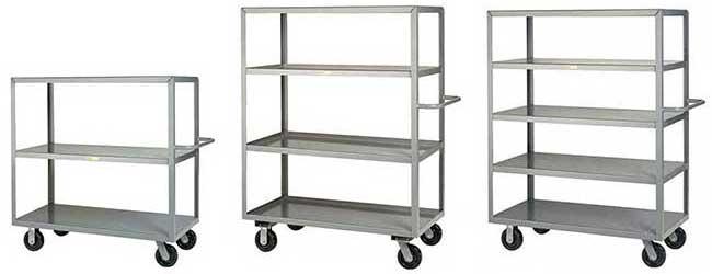 steel shelf trucks