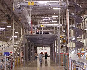 custom mezzanine and conveyor merge