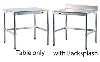 Aluminum Tables with Stainless Tops