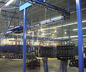 i-beam conveyor in an automotive assembly line