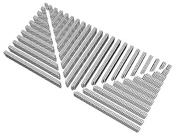 3D Fishbone Aisle Layout