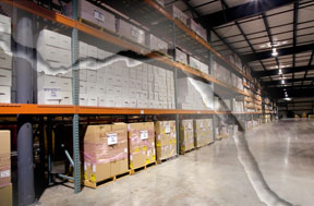 pallet rack seismic warehouse california