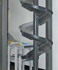 gravity chute at mezzanine
