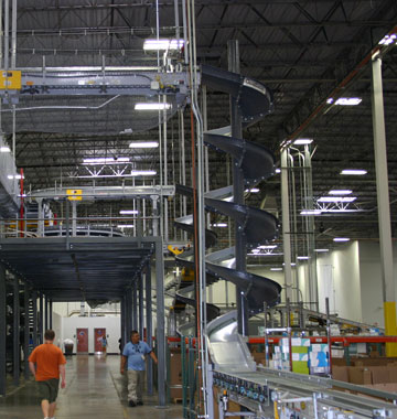 overhead conveyor feed system