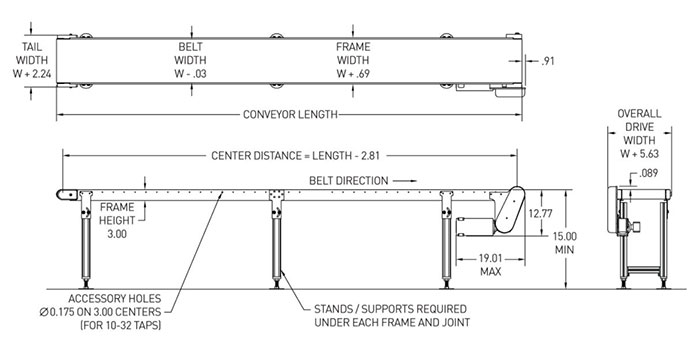 400 series conveyor drawing
