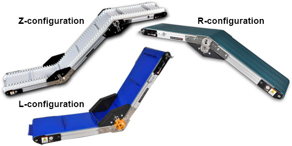 low profile angle frame conveyors