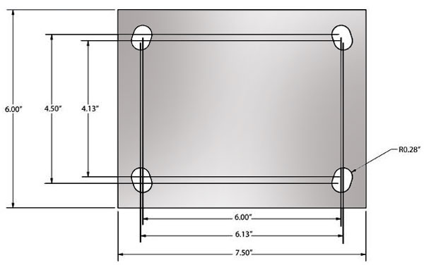 95 Series Caster Top Plate