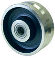 V-groove steel wheel