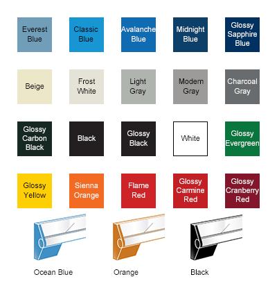 Twenty available colors