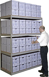 record storage shelving archive storage with bankers boxes rh cisco eagle com Storage Shelves and Racks Banker Box Storage Shelving Racks