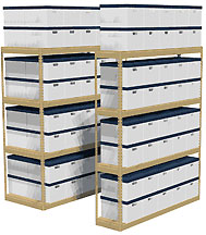 records storage shelving system