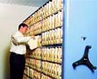 High density mobile aisle shelving - records storage
