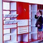 mobile aisle shelving - shop or manufacturing