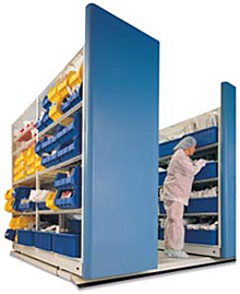 Mobile Aisle Shelf Storage