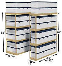 Records Storage Shelving - Archive Shelves  sc 1 st  Cisco-Eagle & Penco Records Storage Shelving | Archive Shelves | Bulk File Storage