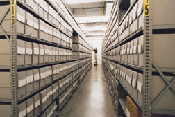 Where to store records? & Records storage shelving - Calculate your archival records storage needs