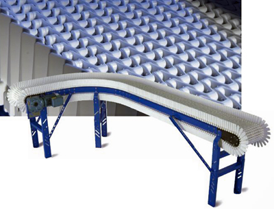 Moving side guide plastic chain conveyor